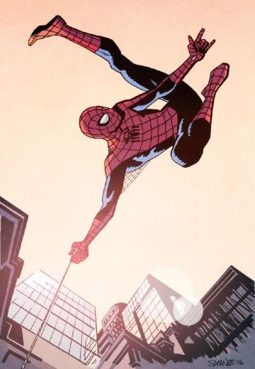 caricaturas del hombre araña para imprimir