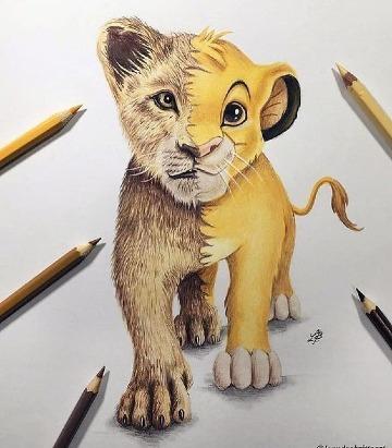 dibujos del rey leon a lapiz