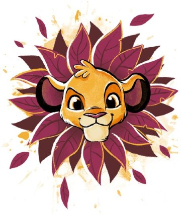 dibujos del rey leon bebe