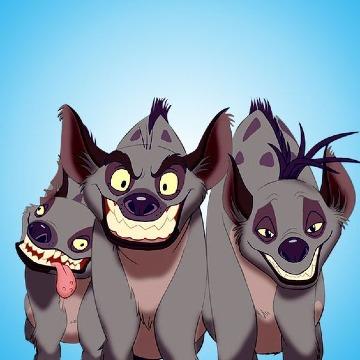 hienas del rey leon para imprimir
