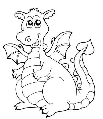 dibujos de dragones para niños para colorear