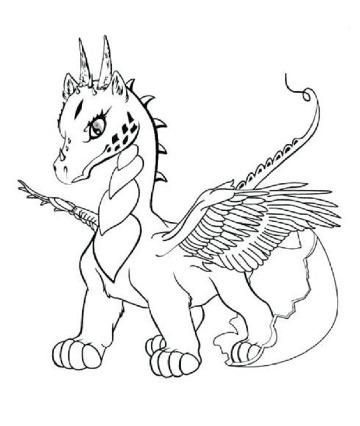 imagenes de dibujos de dragones para niños