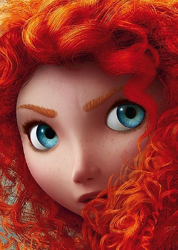 imagenes de la princesa valiente para colorear