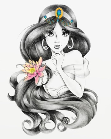 dibujos de princesas a lapiz gratis