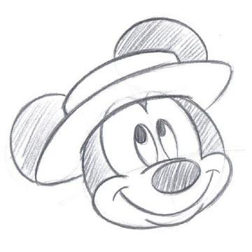 imagenes de dibujos de mickey mouse a lapiz