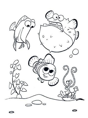 imagenes de nemo para dibujar para niños