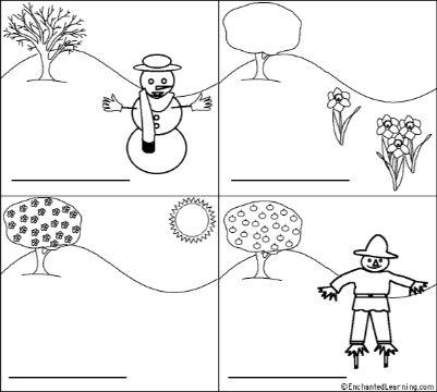 dibujos de las estaciones del año para niños
