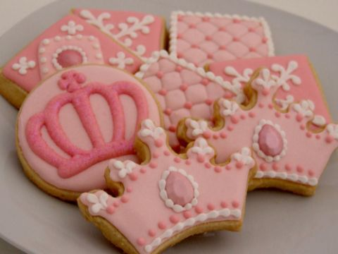 galletas decoradas de princesas coronas