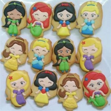 galletas decoradas de princesas disney