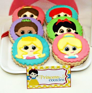 galletas decoradas de princesas rostros