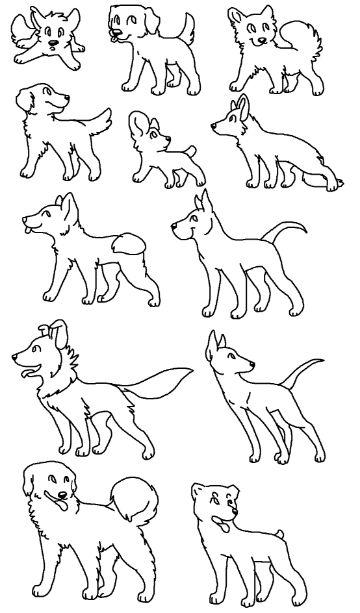 imagenes de perros para pintar a colores
