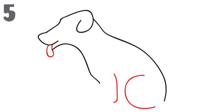 imagenes de perros para pintar aprendiendo