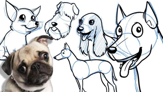 imagenes de perros para pintar y dibujar