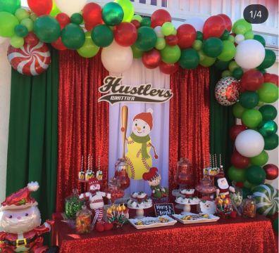 fiestas infantiles en navidad mesa de dulces