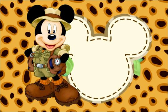 imagenes de mickey safari invitaciones