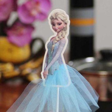 muñecos de frozen para torta de papel
