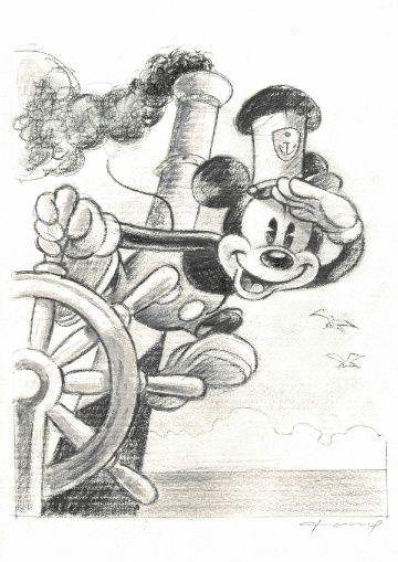 imagenes de mickey marinero a lapiz