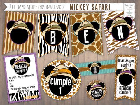 imagenes de mickey safari en banderines