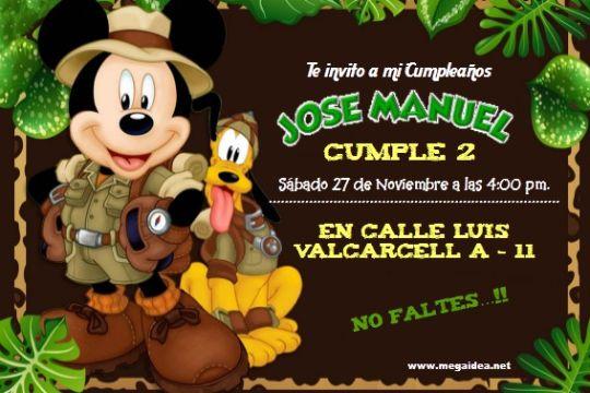 imagenes de mickey safari para cumpleaños