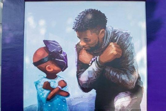 imagenes de pantera negra mural artistico