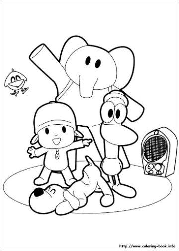 imagenes de pocoyo para colorear personajes