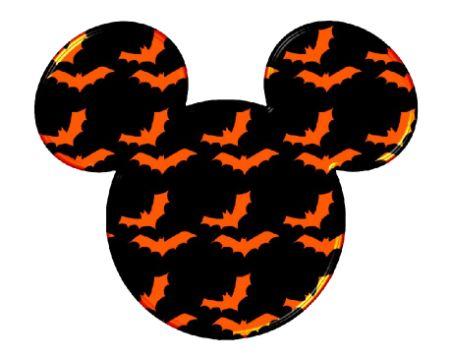 mickey mouse de halloween logotipo creativo