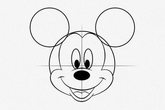 mickey mouse para dibujar esquema