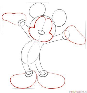 mickey mouse para dibujar patron
