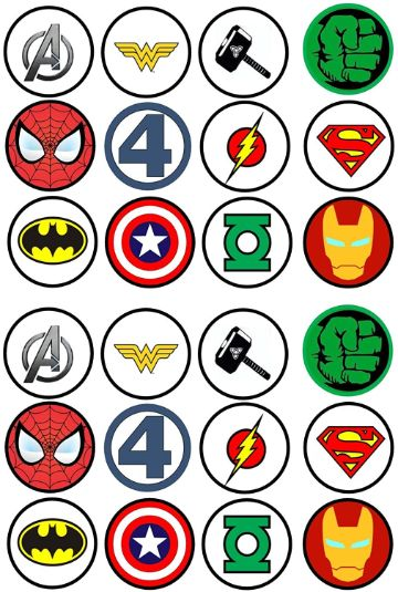 todos los superheroes de marvel logotipos
