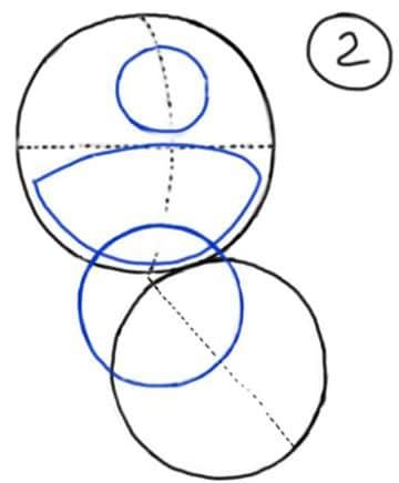 dibujos de stitch para dibujar a base de circulos
