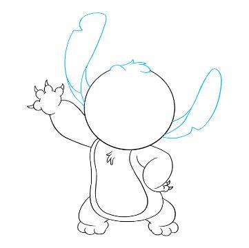 dibujos de stitch para dibujar lineas para seguir