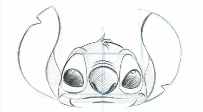 dibujos de stitch para dibujar patron