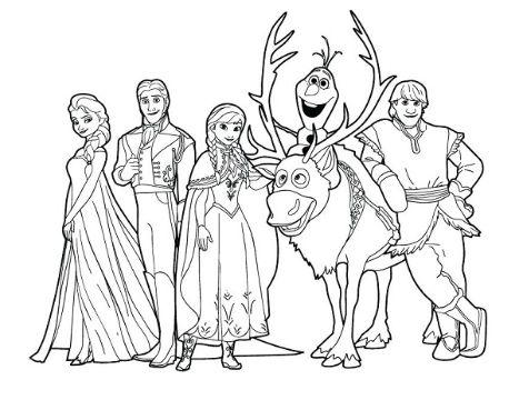 imagenes de frozen para colorear personajes