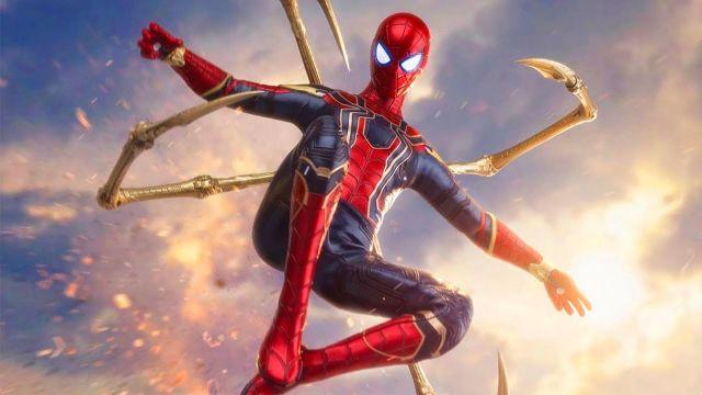 imagenes de iron spider expandiendo sus patas