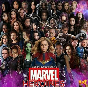 superheroes mujeres marvel fotografia