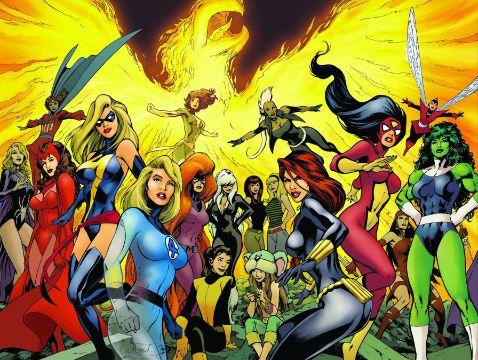 superheroes mujeres marvel para decorar